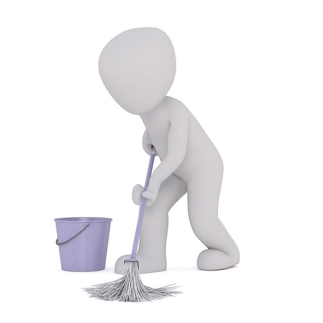 vytírání mopem